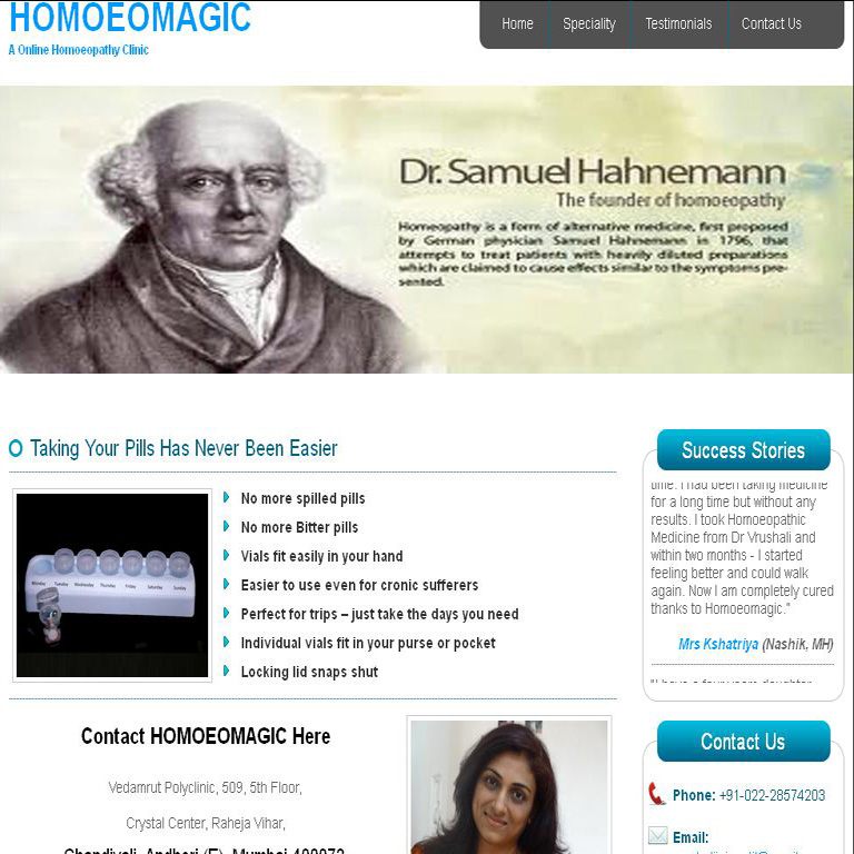 Web Site of Homoeopathy